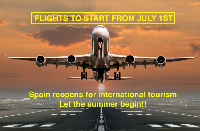 FLIGHTS TO SPAIN TO START JULY 1st! - SUMMER 2020 IS HERE